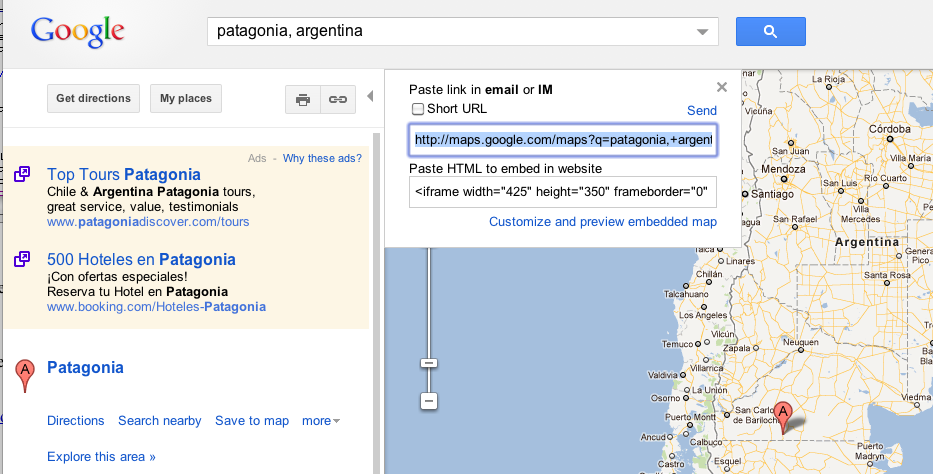 google maps in your web page